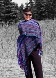 Hand-woven shawl by Dianne Kennedy Cruttenden