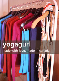 silkscreened yoga wear
